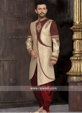 Stone and Zardozi Work Sherwani