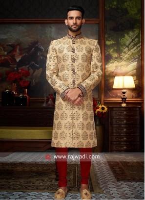 Designer Silk Fabric Sherwani