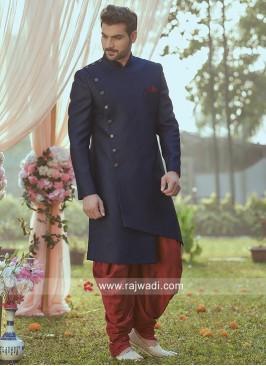 Blue Indo Western For Wedding