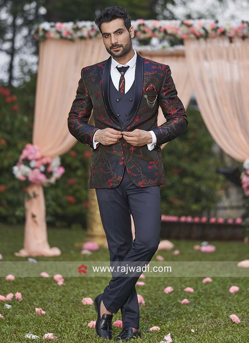 Blue Imported Fabric Suit