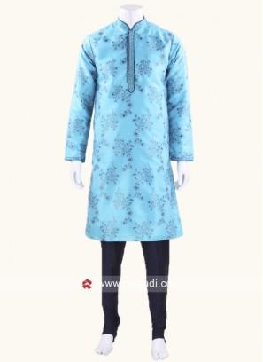 Blue Color Kurta Pajama For Wedding