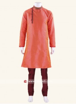 Stylish Tomato Color Kurta Pajama