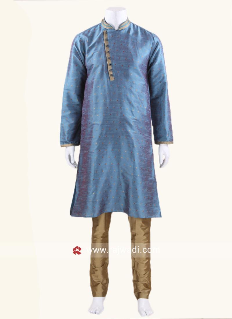 Teal Color Kurta Pajama
