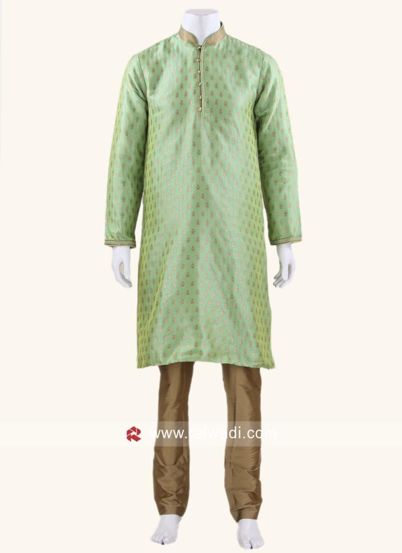 Classy Brocade Silk Fabric kurta Pajama