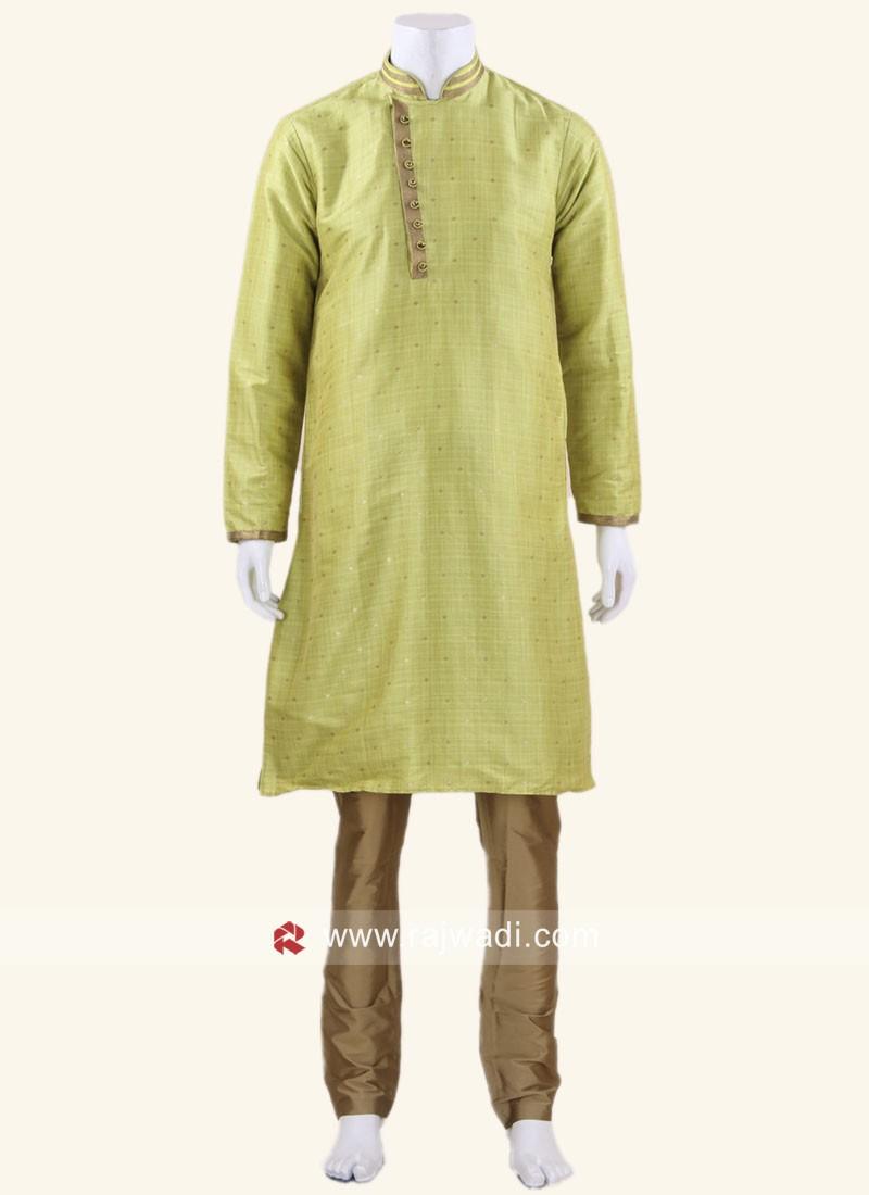 Traditional Art Silk Fabric Kurta Pajama
