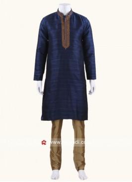 Navy Kurta Pajama For Wedding