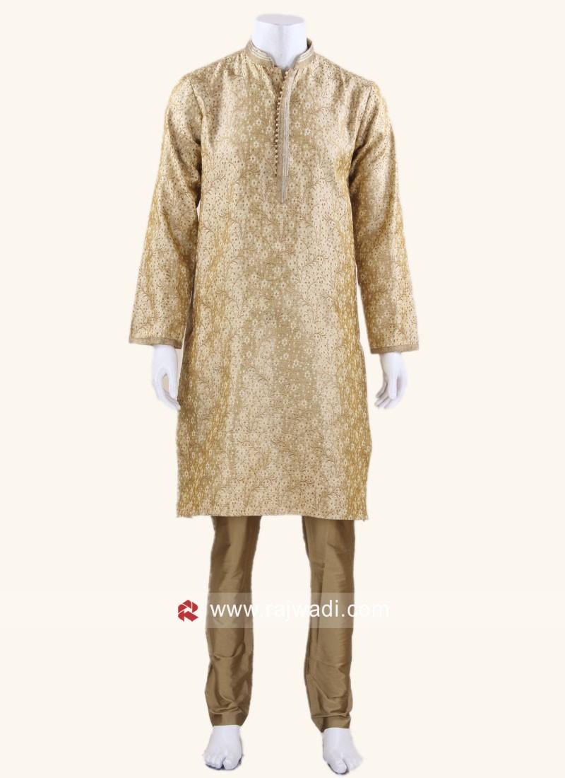 Goldenrod Color Kurta Pajama