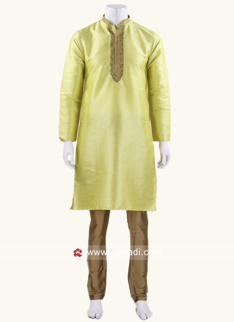 Traditional Art Silk Kurta Set