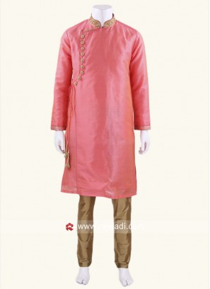 Marvelous Silk Peach Kurta Set