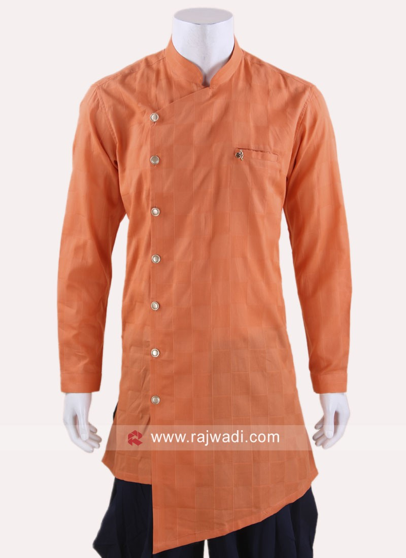 Orange Color Kurta For Party