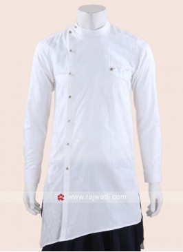 Stylish Cotton Silk White Kurta