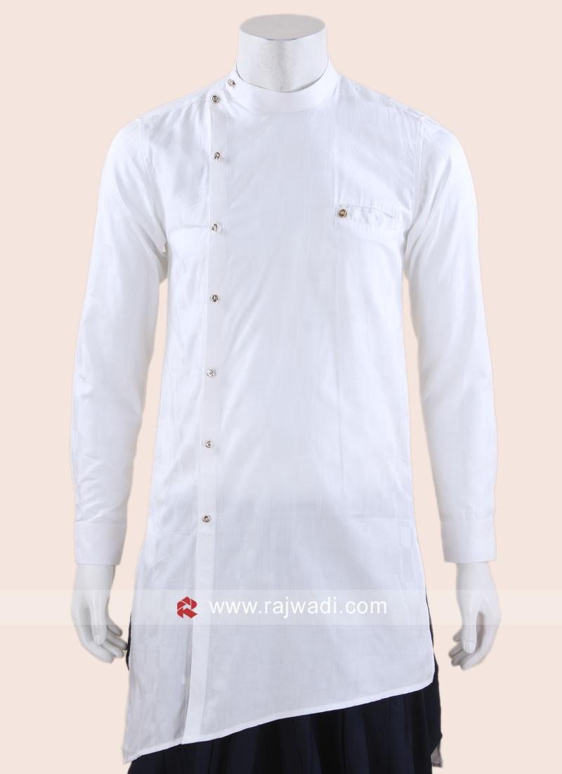 Stylish Cotton Silk White Kurta