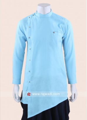 Layered Sky Blue Kurta