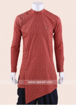 Attractive Cotton Silk Fabric Kurta