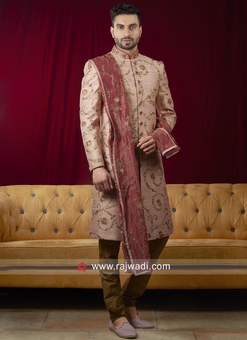 Stylish Light pink Sherwani