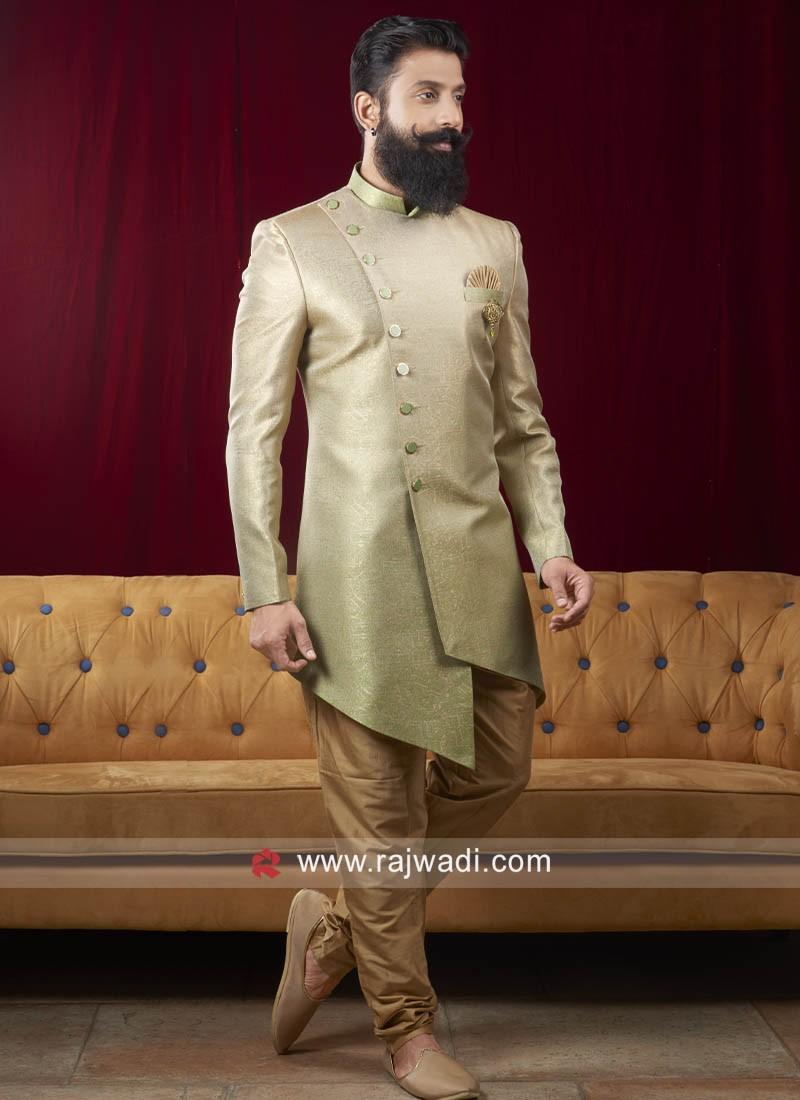 Marvelous Pista Green Color Indo Western