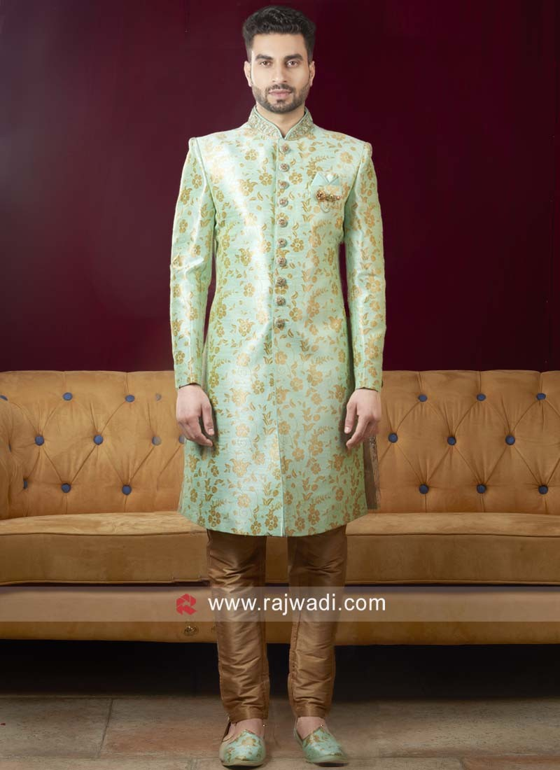 Stylish Sea Green Indo Western