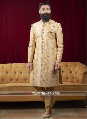 Golden Cream Indo Western