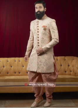Charming Light Pink Indo Western