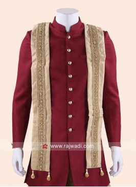 Cream Color Mens Dupatta