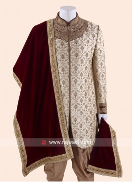 Attractive Diamond and Zari Work Dupatta