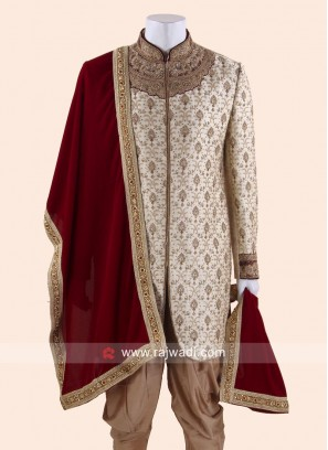 Red Velvet Fabric Dupatta