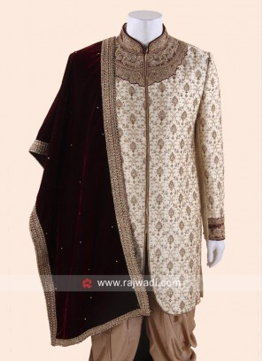 Velvet Fabric Dupatta With Designer Border