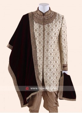 Traditional Maroon Velvet Fabric Dupatta