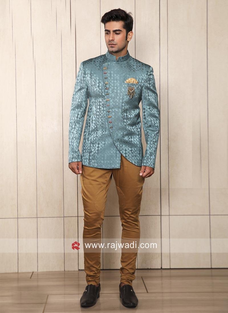 Satin Silk Fabric Jodhpuri Suit For Wedding