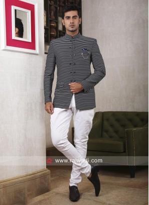 Black Color Jodhpuri Suit For Party