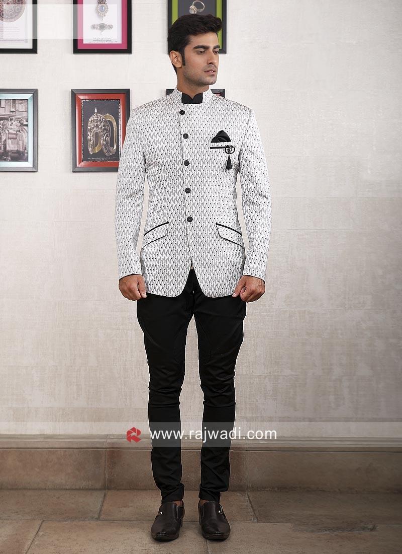 Designer White Jodhpuri Suit