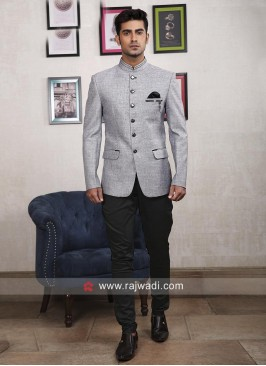 Light Grey Jodhpuri Suit