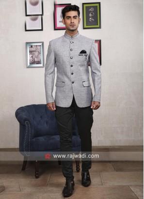 Light Grey Jodhpuri Suit