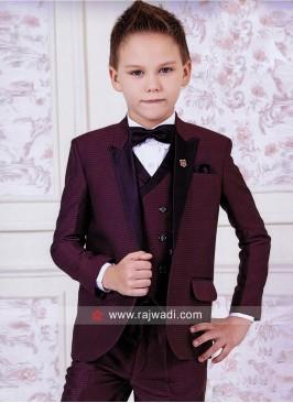 Designer Maroon Color Suit