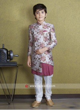 Traditional Brocade Silk Indo Western