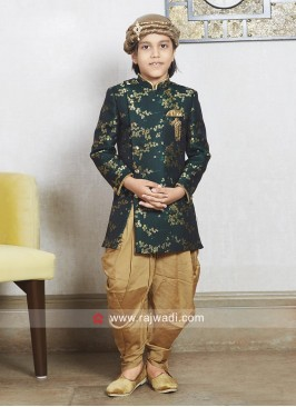 Green Party Wear Indo Western
