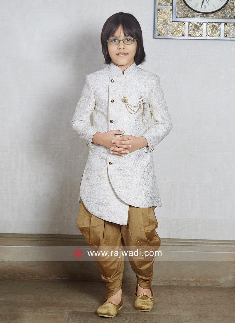 Stylish Brocade Silk Indo Western For Wedding