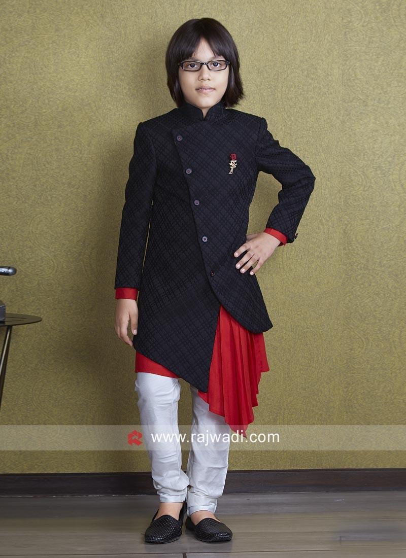 Marvelous Brocade Silk Indo Western For Kids