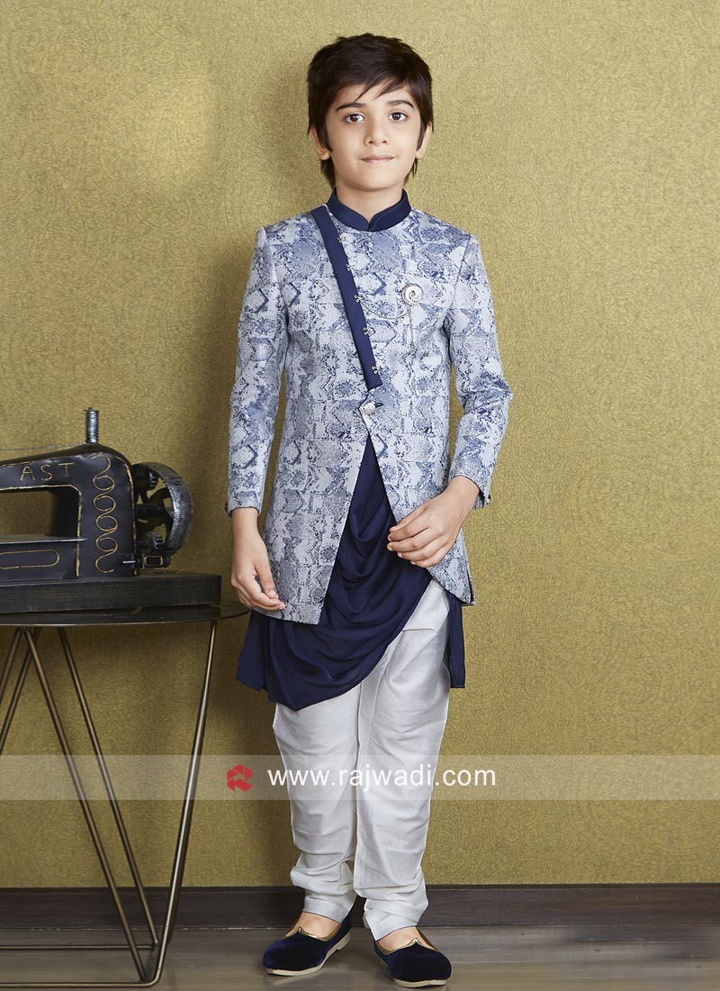 Designer Brocade Silk Kids Indo Western