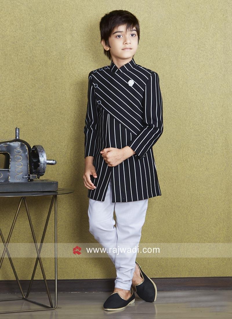 Wedding Imported Fabric Indo Western For Boys