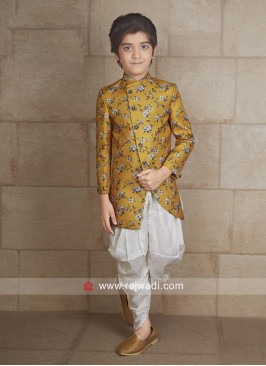 Attractive Mustard Yellow Indo Western For Boys