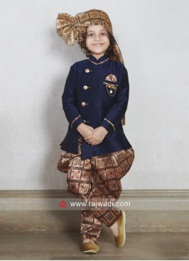 Charming Blue Kids indo Western