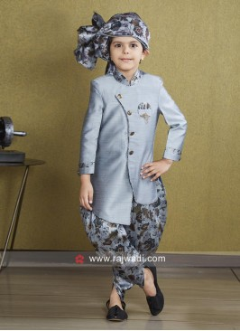 Attractive Grey Indo Western For Kids