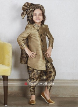 Stylish Goldenrod Kids Indo Western