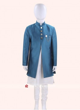 Attractive Dodger Blue Indo Western For Kids