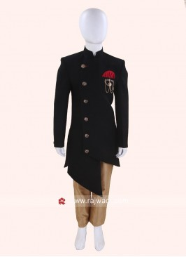 Charming Black Indo Western For Kids