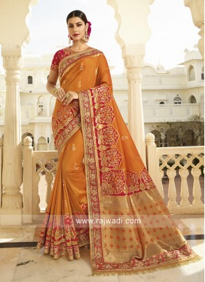 Traditional Banarasi Silk Saree with Blouse