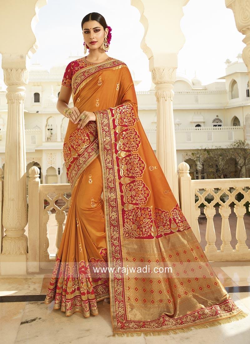 Traditional Banarasi Silk Saree with Blouse