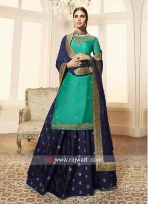 Georgette Satin Designer Lehenga Salwar Suit
