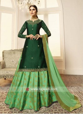 Designer Green Lehenga Style Salwar Suit